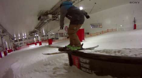 Extreme Ski Practice Videos (UPDATE) - Sony's Action Cam Previews Stunts at Freeze Festival 2013