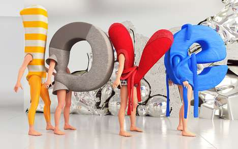 Adorable Alphabet Costumes - Love 3D Typography Has People Spelling Out Their Sentiments
