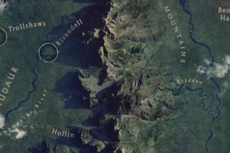 Virtual Middle Earth Maps - This Chrome Experiment Brings the Middle Earth Map to Life