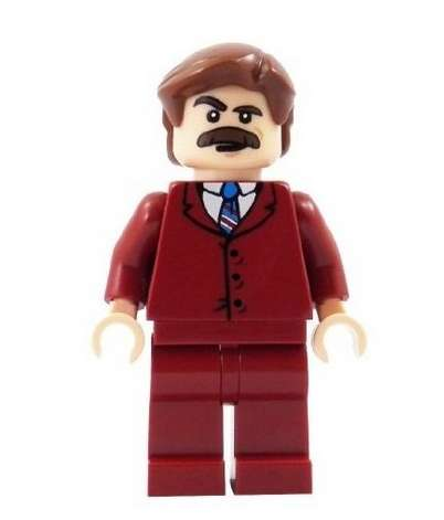 Mustachoid Block Figures - The Ron Burgundy LEGO Figure is a Great Way to Clebrate the Sequel