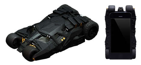 Superhero Car Phone Cases - This Geeky Batman iPhone Case is Shaped Like the Batmobile Tumbler
