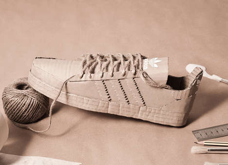 Cardboard Sneaker Replicas - Chris Anderson Recreated New Adidas Shoes Completely from Cardboard