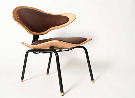 Curvaceous Seating Solutions - The Poise Chair by Louw Roets has an Alluring Abstract Design