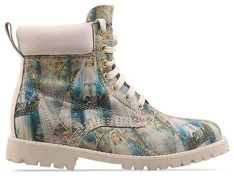 Deity Tiled Kicks  - These 'Bol$hie' Boots Take a Different Spin on Religious Fashion