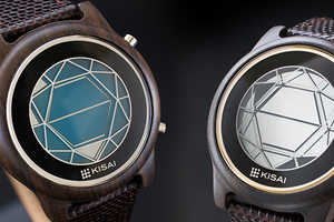 The Tokyoflash Kisai Wood Watch is Shaped Like a Polygon