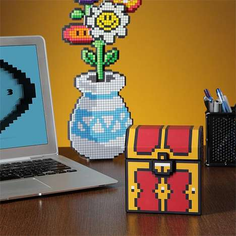 Pixelated Musical Treasure Chests - This Musical Jewelry Box Looks Like It Came Out of a Video Game