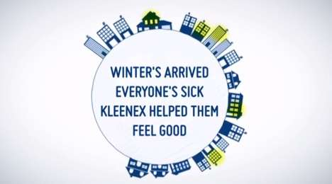 Personalized Sickness-Curing Campaigns - Kleenex Watched Social Media and Sent Out Get Well Kits