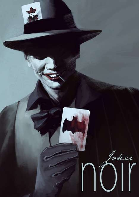 Villainous Film Noir Illustrations - Henrik Sahlstrom Created These Batman Villain Portraits
