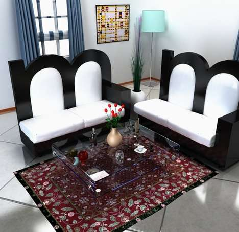 Alphabetical Home Furnishings - Designer Claudio Scotto is Behind These Alphabet Shaped Furnishings