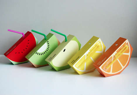 38 Funky Fruit Packaging Designs - From Fruit-Shaped Juices to Health-Boosting Beverages