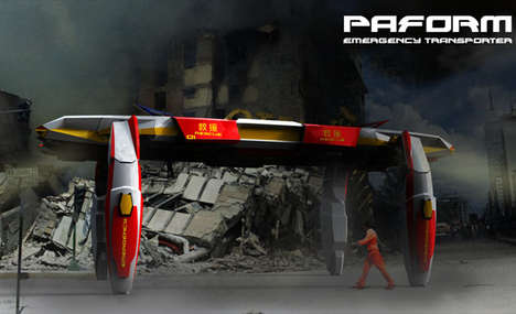 Search and Aid Robots - The Paform Emergency Transporter Seeks Out Disasters and Provides Support