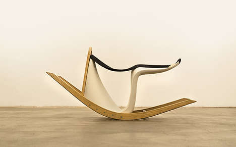 Oscillating Sideways Seats - The Rocking Verner Reorients an Iconic Chair for a New Playful Design