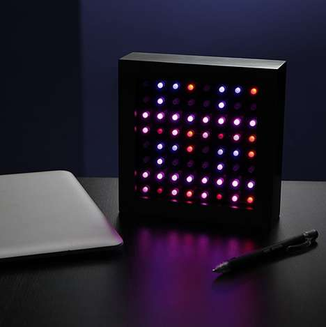Hypnotic Night Lights - Hypnosquare Could Be Likened to a Modern Lite Brite