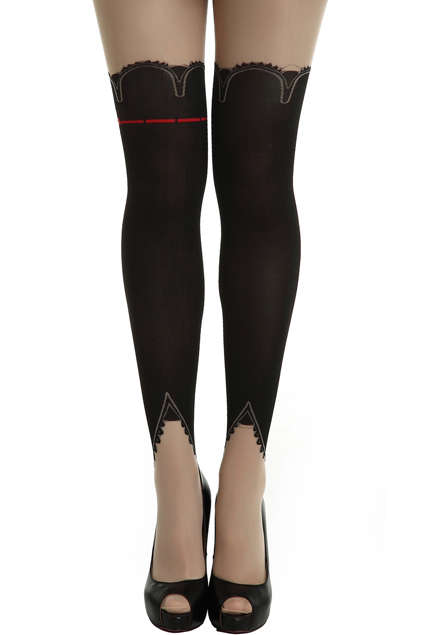 Burlesque-Inspired Hosiery - Embrace Your Inner Dancing Diva with These Lace Leggings