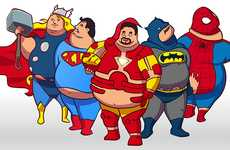 Fattened Comic Book Characters - The SuperSized Heroes Gain Weight with the Help of Citizens
