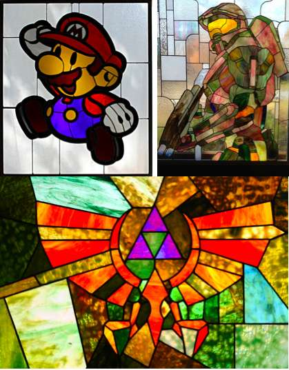 Elegant Glass Gamer Art (UPDATE) - These Rick Daniels Nerdy Stained Glass Creations are Gorgeous
