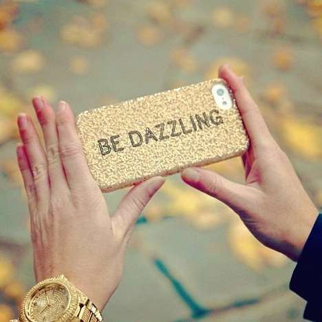 Couture Glitter Phone Cases - This Glitter iPhone 5 Case by Kate Spade Reminds You to Be Dazzling