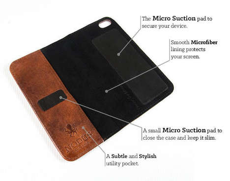 Luxe Wallet-Like Phone Cases - The Access Case by Nodus Has A Slim Leather Micro Suction Design
