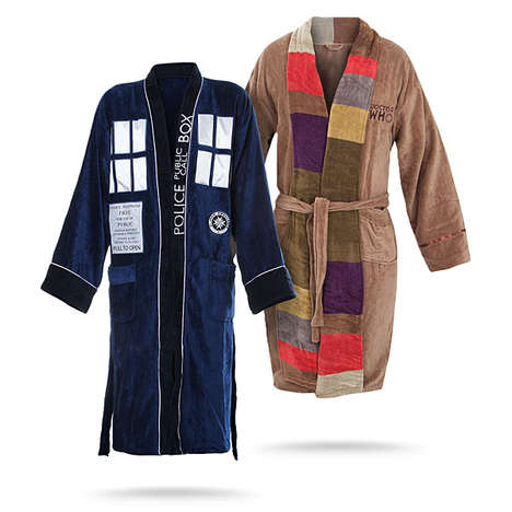 Time-Traveling Bathrobes - These Dr. Who Bathrobes From