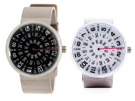 Circular Analog Watches - The Mykonos Visus Watch Tells Time in a Circular Clock Face
