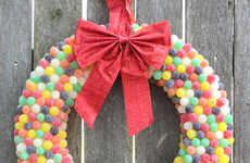 Colorful Candy Wreaths