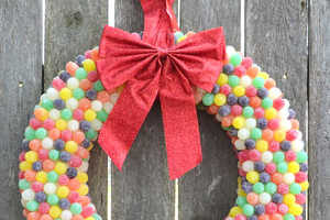 Add Some Sugary Elements to Your Holiday Decor with This Gum Drop Wreath
