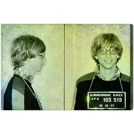Retro Mogul Mugshot Prints - Hang Bill Gates
