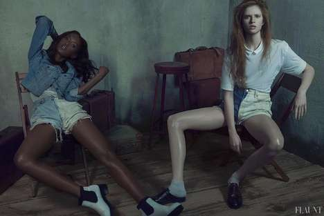 Dingy Denim Editorials - The Flaunt Magazine