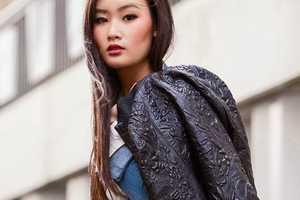 This 'Antik Batik' Jacket Mixes Leather with Lady-Like Elements