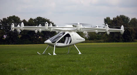 Eco-Friendly Drone Choppers - The Volocopter is Cleaner, Simpler and Safer Than Regular Helicopter