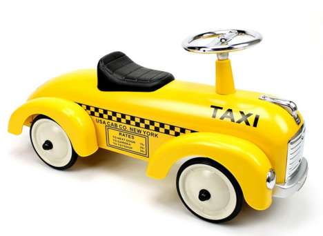 Retro Toddler Taxi Toys - The Retro NY Taxi Toy Will Make Toddlers Smile