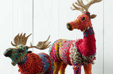 DIY Rainbow Reindeer Ornaments