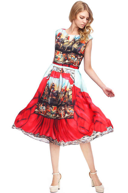 Graphic Baroque Dresses - This Baroque Fashion Dress from Romwe is Classically Gorgeous