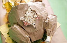 Popping Paper Turkey Centerpieces - The Popcorn Turkey Bag Brings The Pop To Thanksgiving Dinner