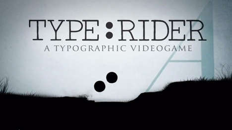 Entertaining Typography Apps - The Type Rider App Makes Learning About Typography Fun