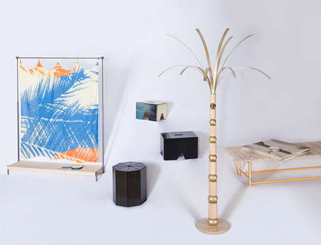 Modernist Oasis-Inspired Furniture - The OAZA Collection by Klara Sumova & Dirk Wright is Paradise