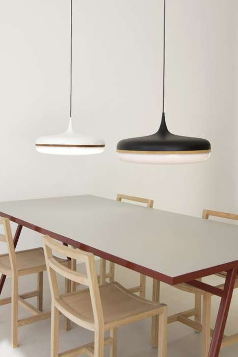 Disc-Like Ceiling Lights - The Droplet Pendant Lamp by Viktor Legin is Sleek and Elegant