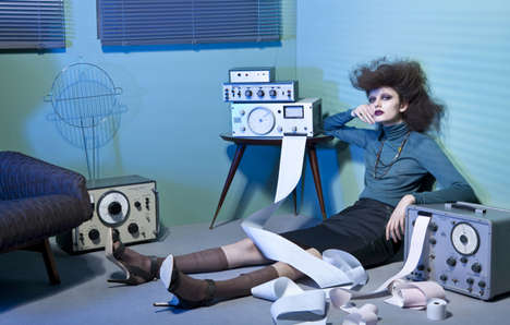 Retro Office-inspired Fashion - DDR Vogue.it by Lucia Giacani Focuses on Chic Secretary Style