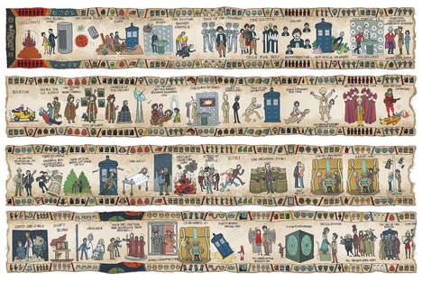 Ancient Sci-fi Tapestries - This Doctor Who Tapestry Tells 50 Years of History