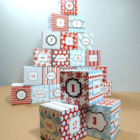 21 Christmas Advent Calendar Ideas - From 3D Advent Calendars to Mod Christmas Countdowns