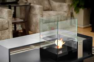 This Fireplace Coffee Table is an Excellent Winter Decoration