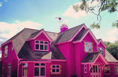Iconic Livable Dollhouse Structures - The Eaton House is the Barbie Dream House Brought to Life