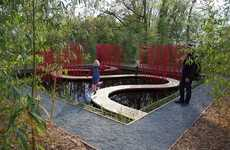 Winding Watery Walkways - Square & Round by Turenscape Focuses on Chinese Gardening Philosophy