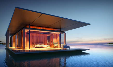 Free-Spirited Floating Homes - This Oceanic Pad Offers Scenic Views and Flexibility