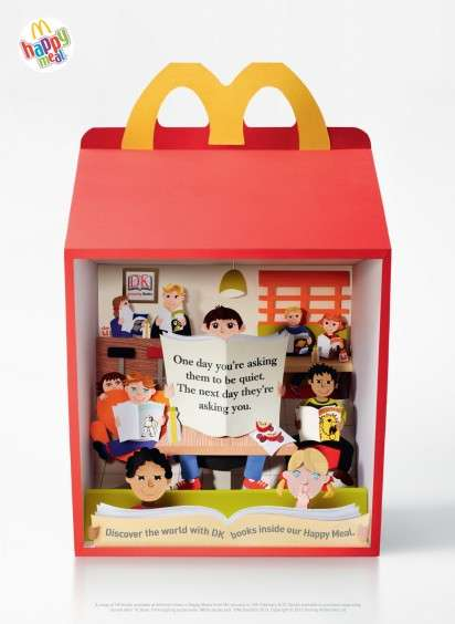 Fast Food Diorama Ads - The McDonald's Happy Meal 2013 Campaign Promotes Children
