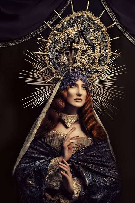 Historically Ornate Portraits - Madonnas by Katarzyna Widmanska is Inspired by Mother Mary