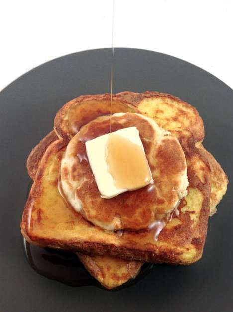 Two-in-One Breakfast Foods - This Pancake-Stuffed French Toast Recipe Combines Two Good Foods