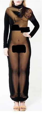 Unclothed Celebrity Dresses - The Naked Oprah Dress is a Controversial Creation