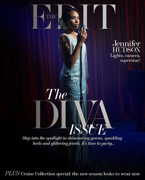 Old-School Diva Editorials - Jennifer Hudson Stars in the Edit November 2013