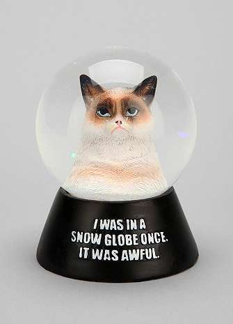 Internet Sensation Snow Domes - The Grumpy Cat Snow Globe is For People Who Hate the Holidays